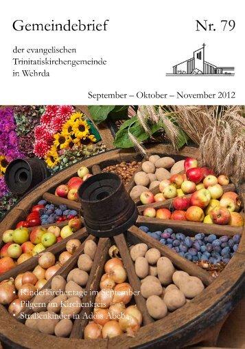 Nr. 79: September - Oktober - November 2011 - Evangelische ...