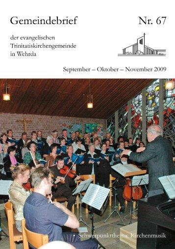 Nr. 67: September - Oktober - November 2009 - Evangelische ...