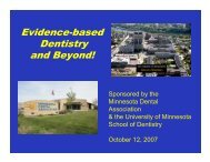 Dr. Gary Anderson - School of Dentistry - University of Minnesota