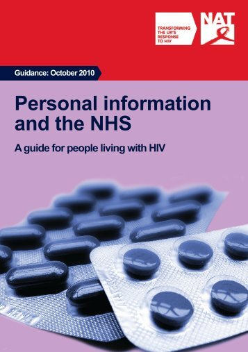 Personal information and the NHS: a guide for people living with HIV