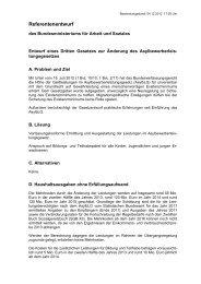 Referentenentwurf Gesetz zur Änderung des AsylbLG