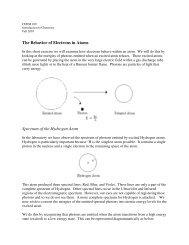 The Behavior of Electrons in Atoms Spectrum of the Hydrogen Atom