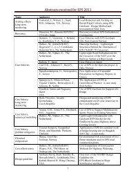 List of abstracts - contribution topics uten e-post adresser - sortert på ...