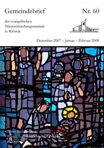 Nr. 60: Dezember 2007 - Januar - Februar 2008 - Evangelische ...