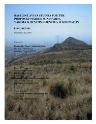 baseline avian studies for the proposed maiden wind ... - WEST, Inc.
