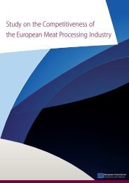 Study on the Competitiveness of the European Meat Processing ...
