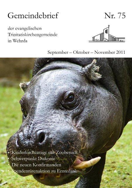 Nr. 75: September - Oktober - November 2011 - Evangelische ...
