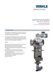 Automatik-Kantenspaltfilter AF 73 G / AF 93 G - MAHLE Industry ...