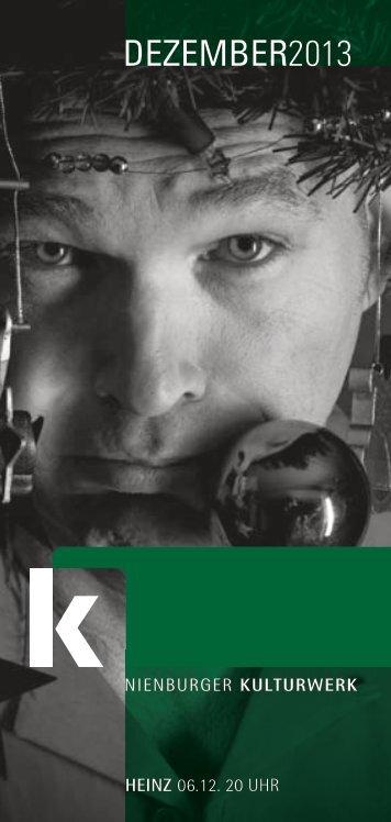 Monatsprogramm Dezember - Nienburger Kulturwerk