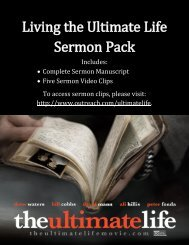 Living the Ultimate Life Sermon Pack - Outreach