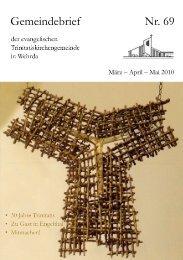 Nr. 69: März - April - Mai 2010 - Evangelische ...