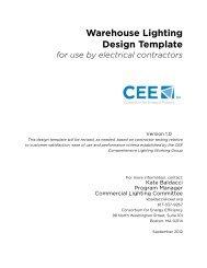 CEE Warehouse Lighting Design Template - Efficiency Vermont