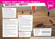 goalball - modified - School Games