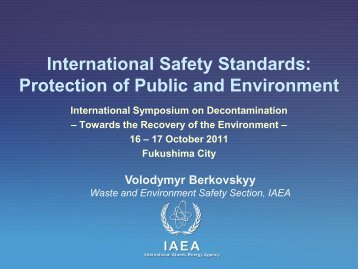 International Safety Standards: Protection of Public and Environment