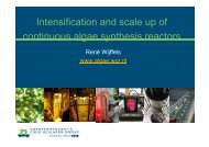Intensification and scale up of Continuous Algae synthesis ... - Traxxys
