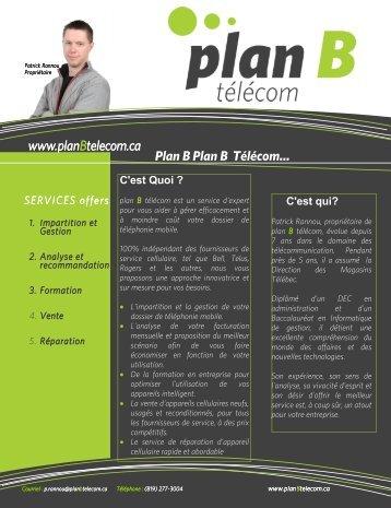 """0005 GLJ/:8G8""""635""""L - Plan B télécom"""