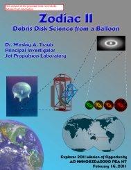 Zodiac II: Debris Disk Science from a Balloon - University ...