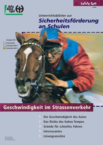 Geschwindigkeit im Strassenverkehr.pdf - Unterricht