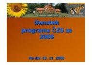 program 2009 za regijske posvete - Čebelarska zveza Slovenije