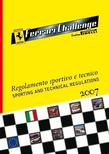 Regolamento sportivo e tecnico - Piste e dintorni