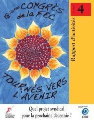 Rapport d'activités - Fédération des enseignantes et des ...