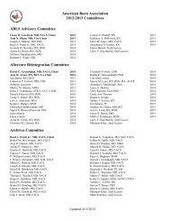 the 2012-13 Committee List. - American Burn Association