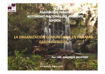 la organización comunitaria en panamá casos exitosos - INBO