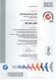 ISO 9001 Quality Certification - Grontmij