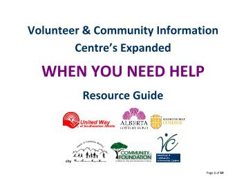 When you need Help Extended Resource - Crisis Assistance Network