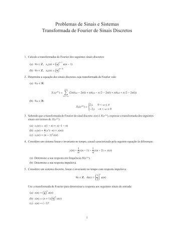 Transformada de Fourier de sinais discretos - ISR