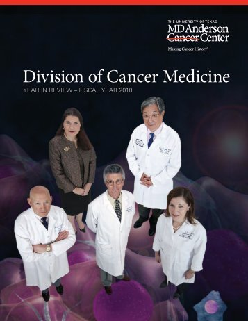 Division of Cancer Medicine - Guide for Referring Physicians