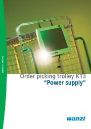 """Order picking trolley KT3 """"Power supply"""" - Expedit"""