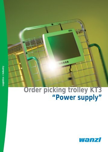 "Order picking trolley KT3 ""Power supply"" - Expedit"