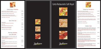 Carta Restaurante Café Royal - Radisson.com