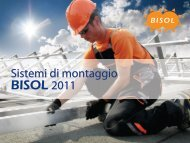 Scarica la brochure del sistemi di montaggio BISOL ... - Guida Edilizia
