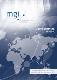 Doing Business in USA - MGI