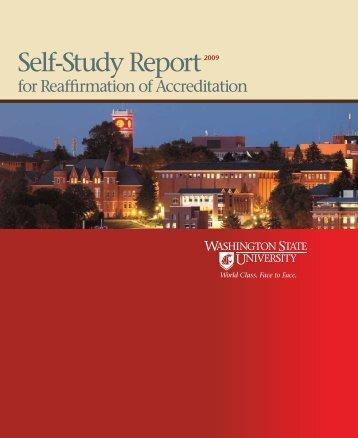 Self-Study Report - WSU Accreditation - Washington State University