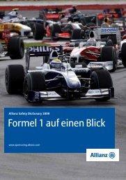 Formel 1 auf einen Blick - Allianz Sponsoring Media Center