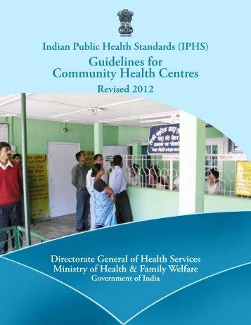 (IPHS) Guidelines - NRHM Manipur