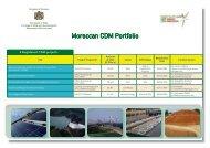 Moroccan CDM Portfolio - Département de l'environnement