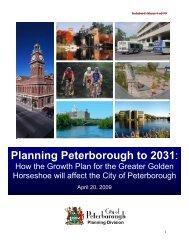 Planning Peterborough to 2031: - City of Peterborough