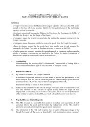 Standard Conditions (1992) governing the FIATA MULTIMODAL ...