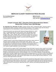 Joseph Leonardi, CEC®, Executive Chef at Somerset Club, Boston ...