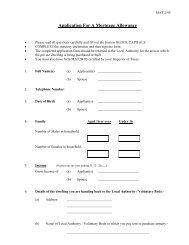 Mortgage Allowance Scheme - Application Form