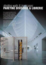 paretine divisorie & LiBrerie dividing walls & bookcases