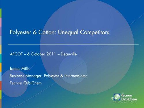Polyester & Cotton: Unequal Competitors - AFCOT