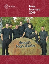 Read more about the new Novices in this PDF - ThinkJesuit.org