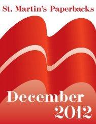 December 2012 St. Martin's Paperbacks Mass ... - Raincoast Books