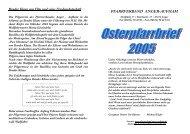 Pfarrbrief Ostern 2005 - Pfarrverband Anger-Aufham