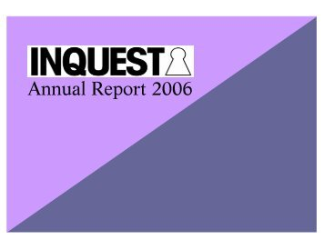Annual Report 2006 - Inquest